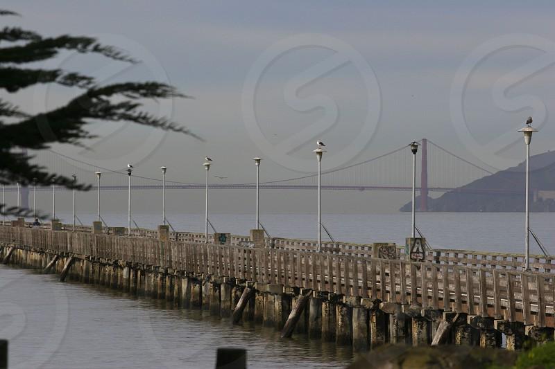 Berkeley Pier with Golden Gate Bridge photo