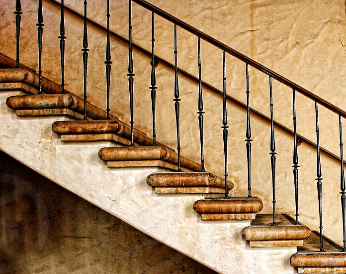 Staircase seem from the side. photo