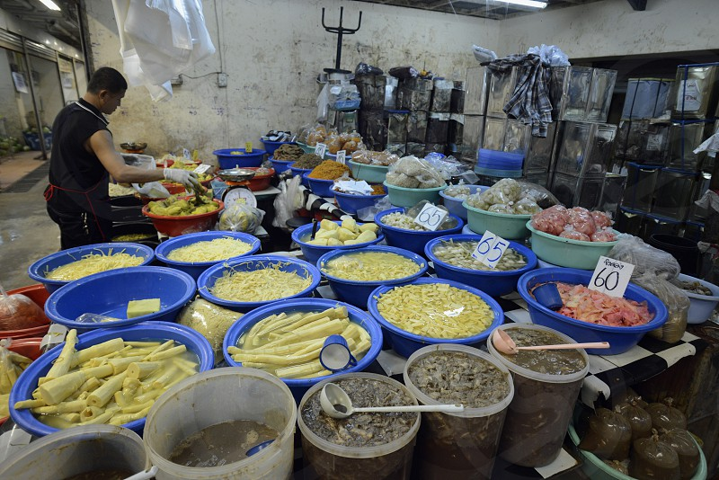 fegetable at the day Market in the city of Phuket on the Phuket Island in the south of Thailand in Southeastasia.