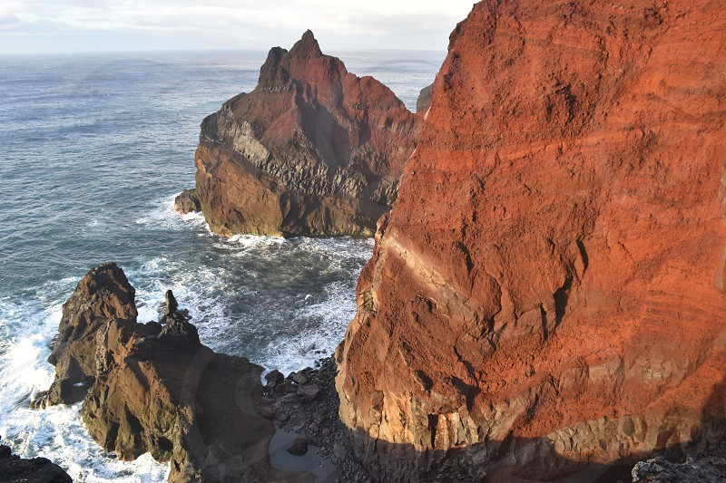 Capelinhos volcano on island of Faial in the Azores photo