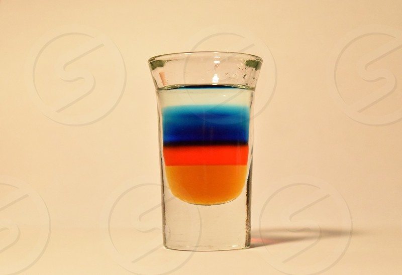 Maple syrup grenadine blue curacao martini mix and vodka. It was just as fun to shoot both times! photo