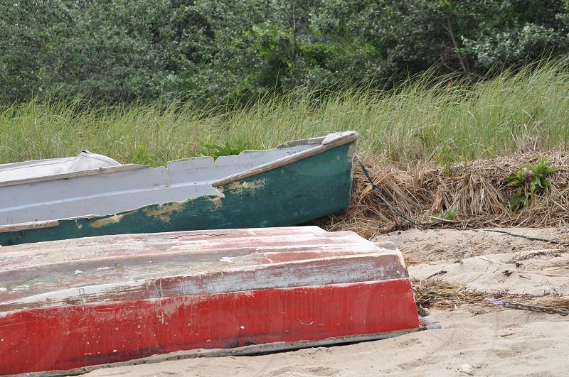row boats beach cape cod marooned photo