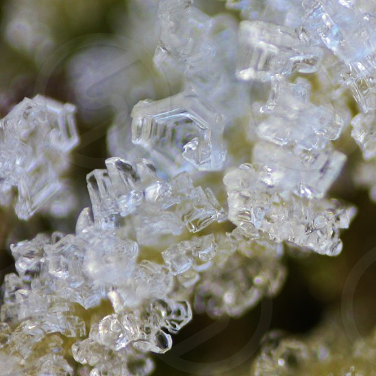 clear ice crystals photo