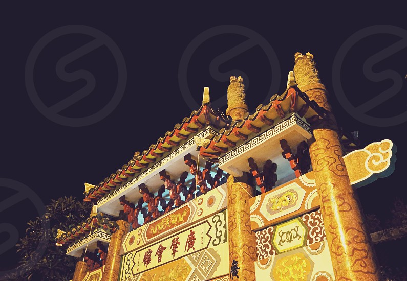 Asian gate culture Vietnam  photo