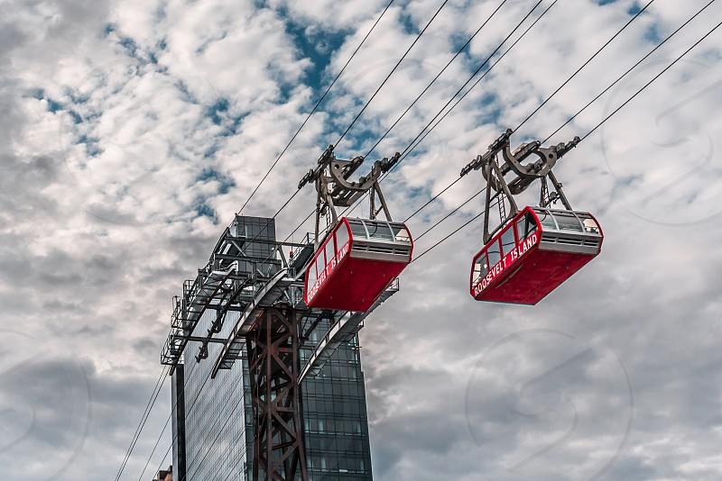 Roosevelt Island Tramcars in New York photo