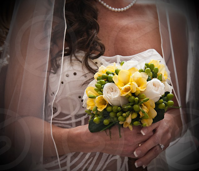 Bride with flowers photo