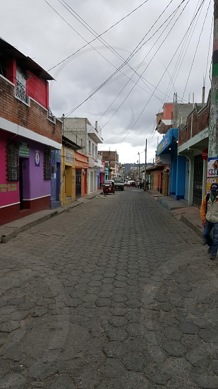Guatemala Street City Town Colorful Cobblestone Historic photo