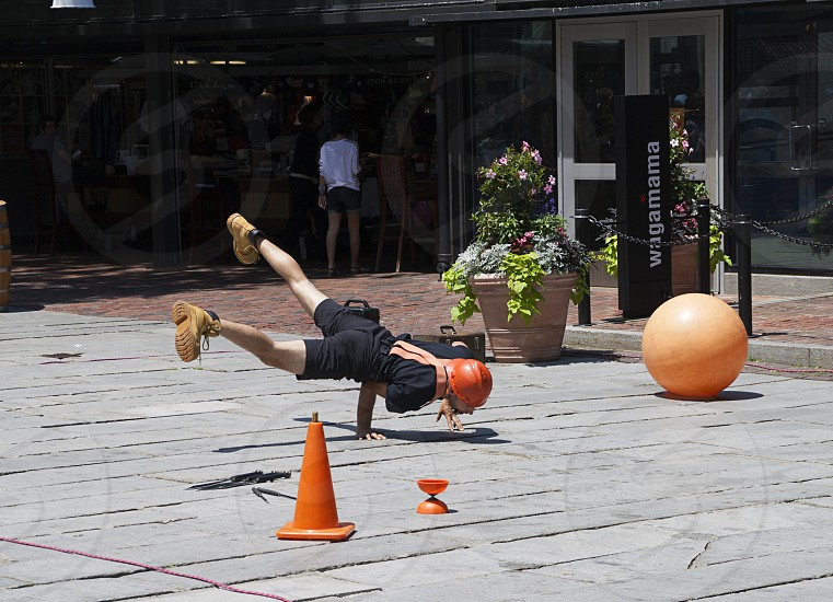 Break dance in the street photo