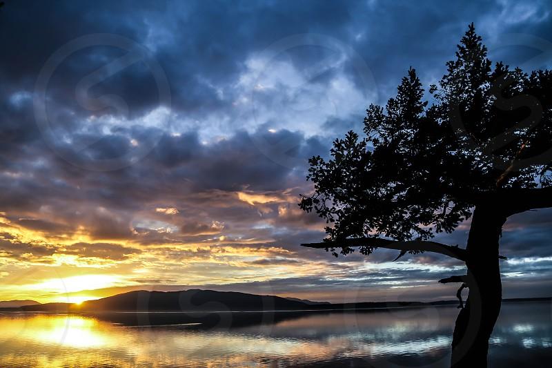 Thanksgiving sunset. Very thankful.  photo