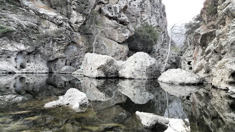 calm creek malibucreekrockscliff photo