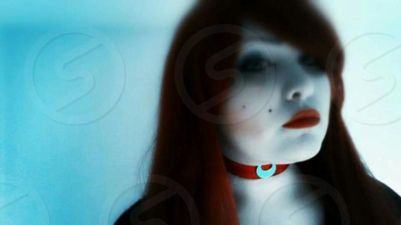 Alexis Leeann Art | Self Shot Red Wig 2015 photo