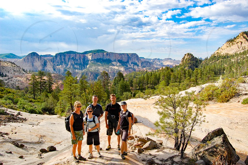 Backpacking and hiking in the mountains and canyons of Utah. photo