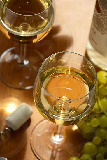 Wine in wineglasses photo