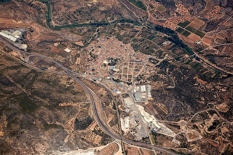 Soneja villaje aerial in Castellon Province of Valencian community at Spain photo