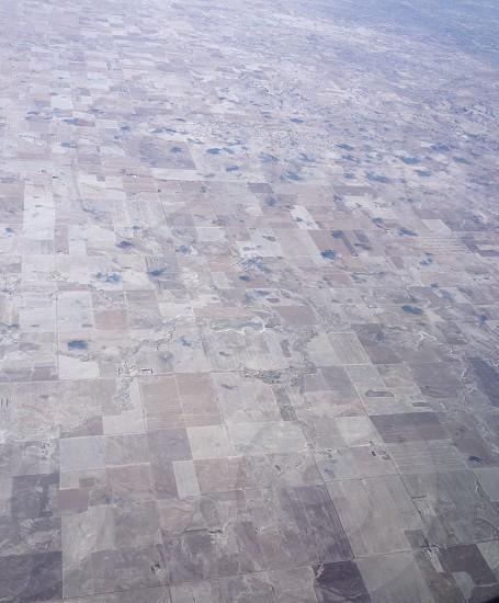 Farm land aerial view photo