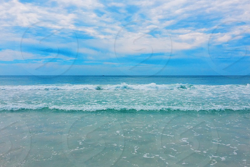 beach ocean waves water Florida photo