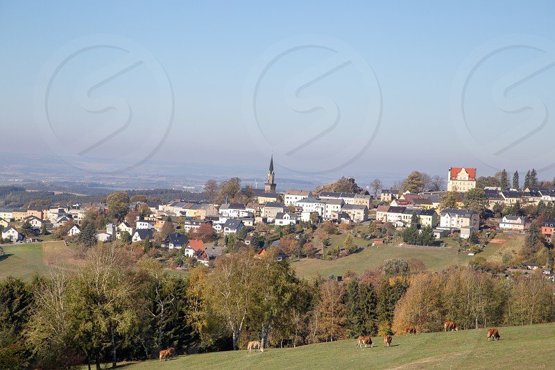 the little city Schöneck in the Vogtland in Saxony photo