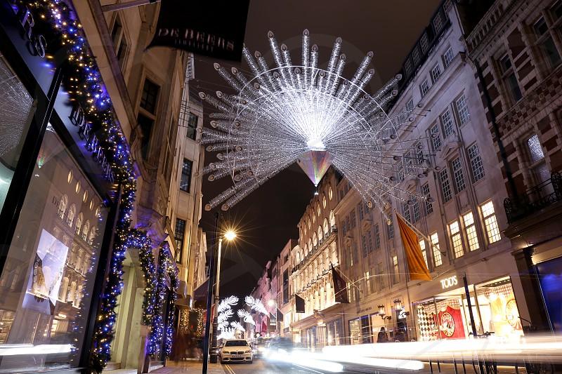 New Bond Street Christmas decorations London. photo