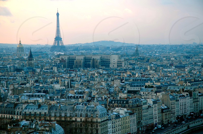 paris france aerial shot photo
