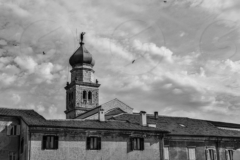 Old chruch in a Croatian town. photo