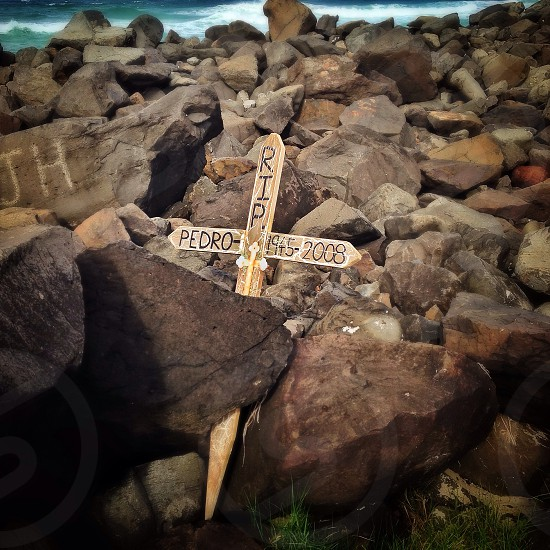 Pedro's cross was found washed up on the rocks - who is Pedro? photo