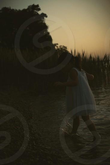 girl in white dress photo