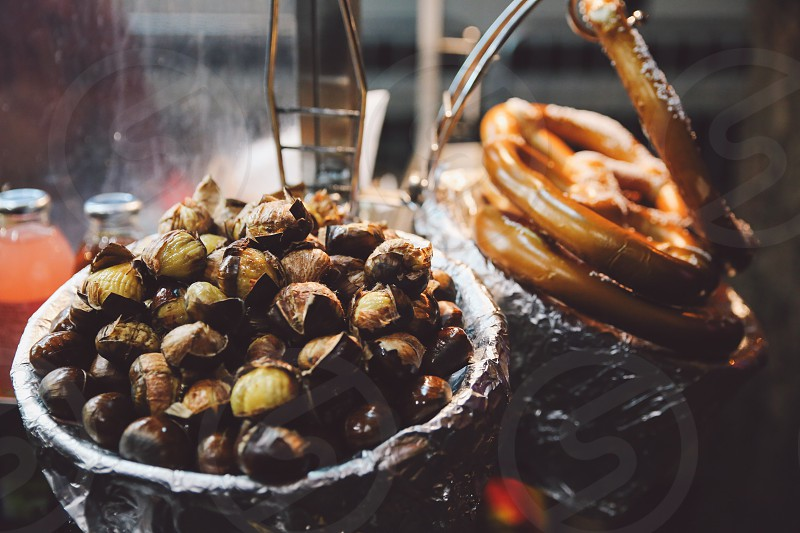 street food chestnuts beagles new york photo