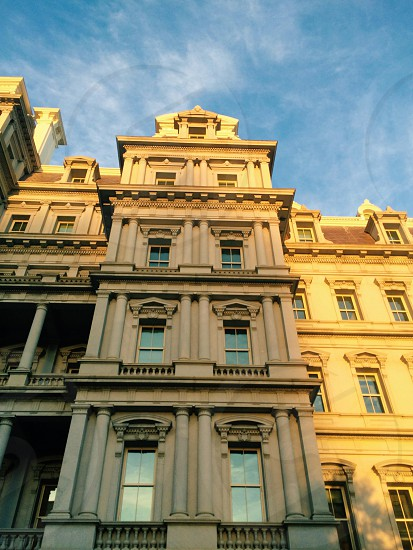 Washington DC building golden hour photo