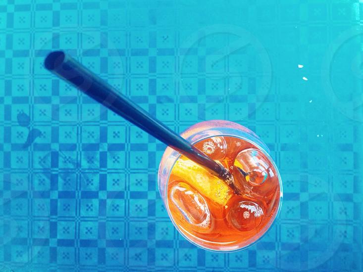Drink Italy Spritz Orange Blue Yellow photo