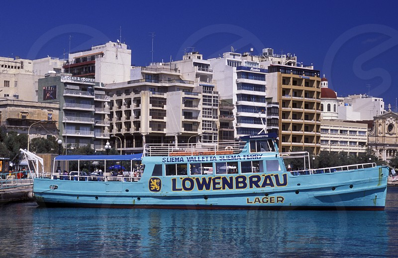 The City quater of Sliema in the city of Valletta on Malta in Europe. photo