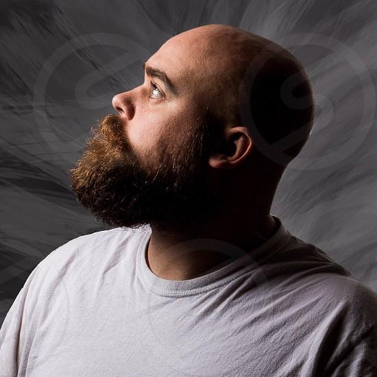 brown bearded man photo photo