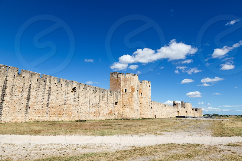 Landscape image of Aigues-Mortes village South of France photo