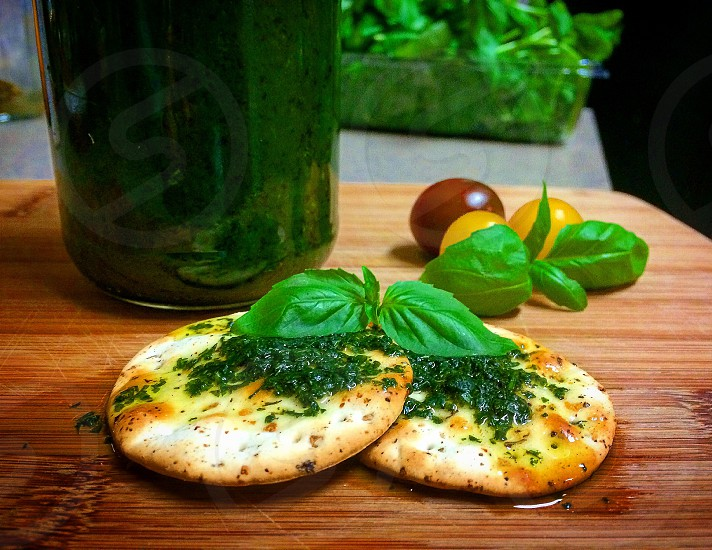 Basil sous basil sous olive oil green greens fresh healthy tasty photo
