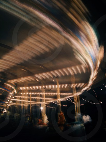 Night at the Texas State Fair - carousel. photo