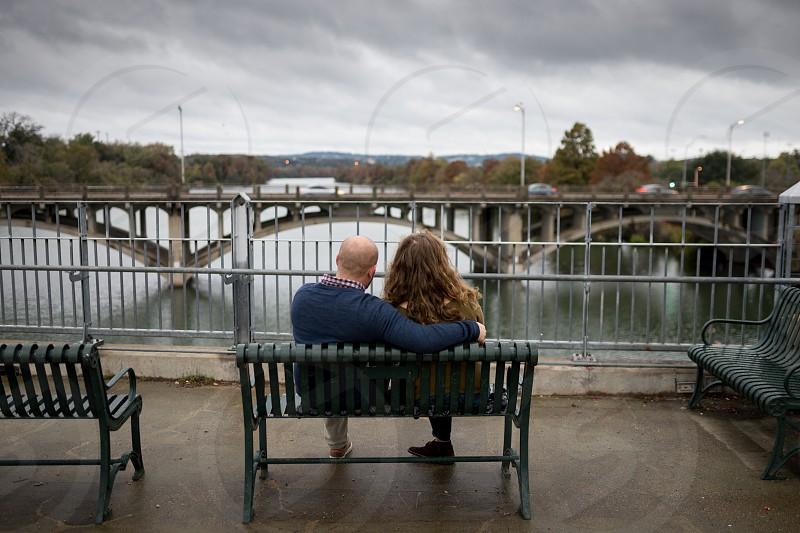 Engagement bridge fall photo