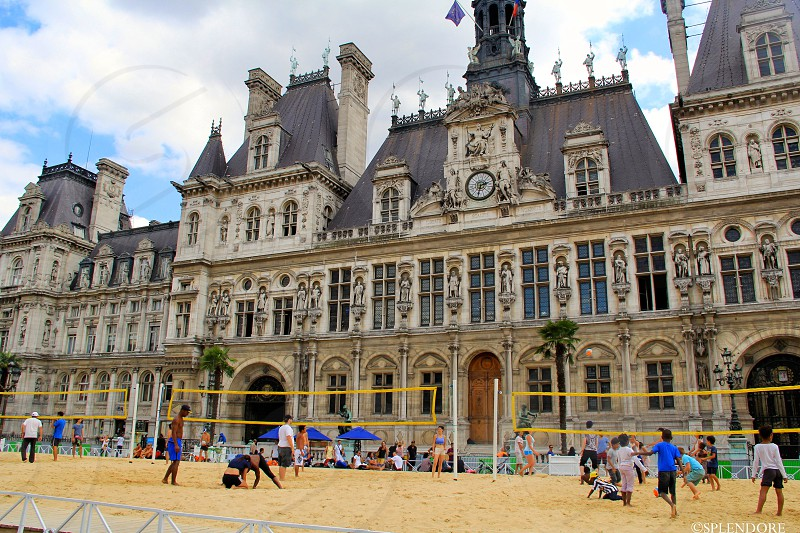 A beach in Paris! Why yes! Welcome to Paris plages photo