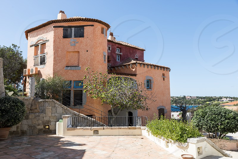 typical italian architecture in Porto Cervo on the italian island of sardinia the place where in the summer the rich and famous travel for their exclusive vacation photo