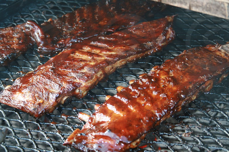 Barbecue BBQ cook grill grilling ribs smoked food photo
