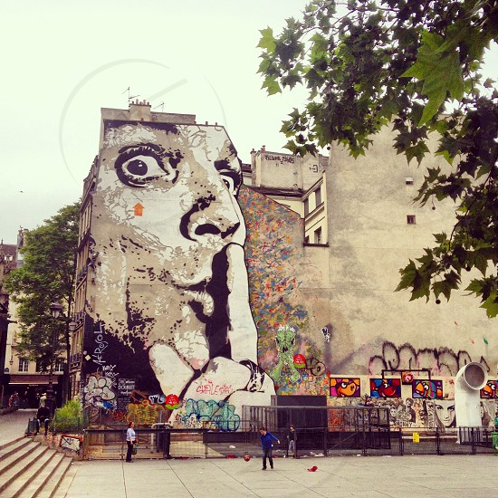 Paris street art (artist: Jef Aérosol) photo