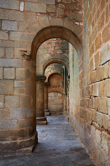 Caceres church of Santiago in Extremadura of Spain by the via de la Plata photo