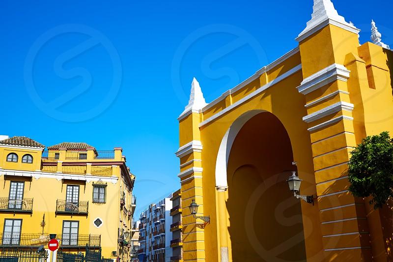 Seville Puerta de la Macarena Arch door in Sevilla Andalusia Spain photo