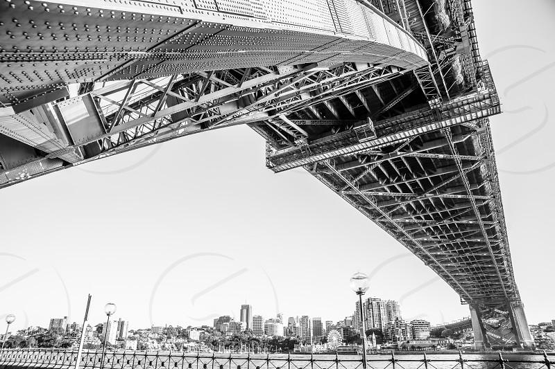 The underbelly of Sydney Harbour Bridge Sydney Australia. photo