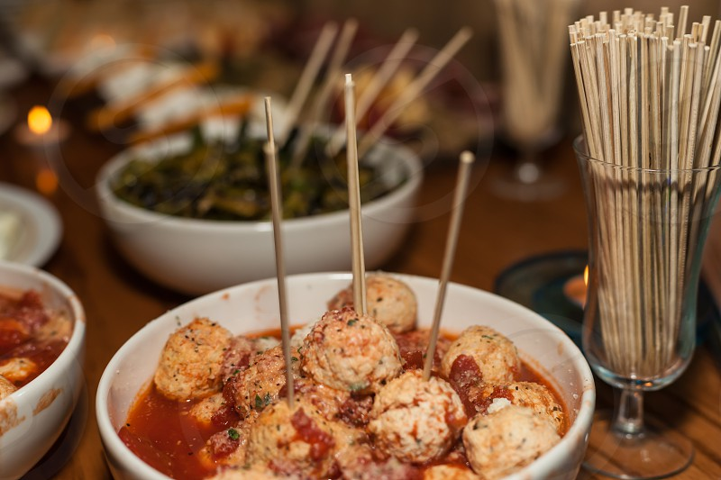 meatballs in bowls food photography photo