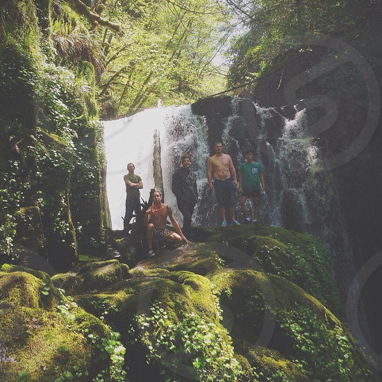 Sweet Creek Falls with some friends. photo
