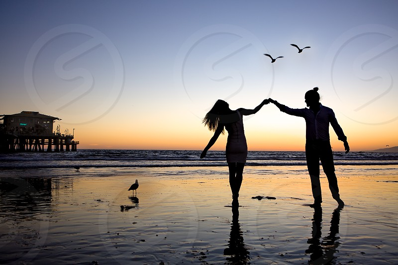 Millennials Engagement Celebration at the beach photo
