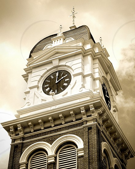 tower clock architectural photography photo