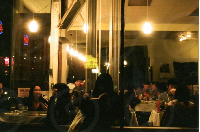 restaurant at night photo