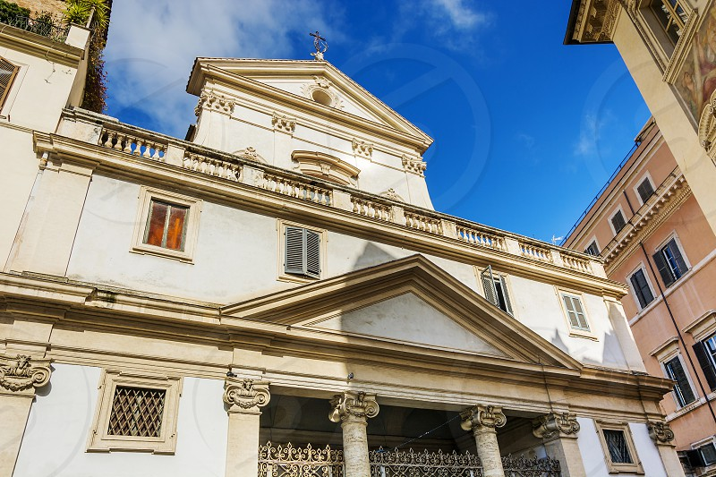 Sant'Eustachio is a Roman Catholic titular church and minor basilica in Rome named for the martyr Saint Eustace. It is located on Via di Sant'Eustachio in the rione Sant'Eustachio. photo