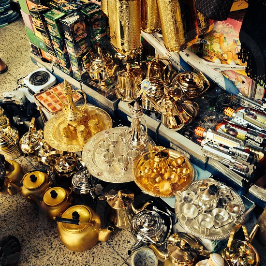 bunch of assorted-color Turkish tea set lot photo