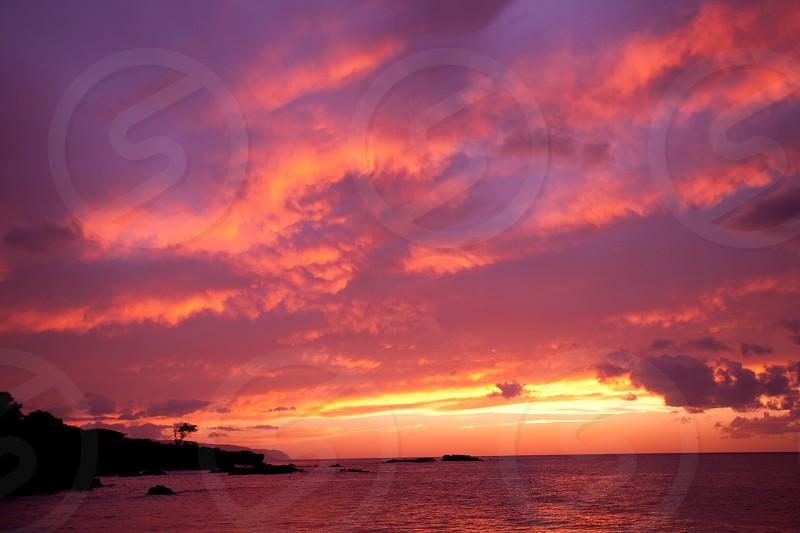 Sunset on the Big Island Hawaii photo